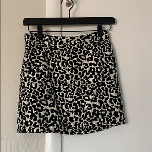 Kendall & Kylie cheetah print mini skirt